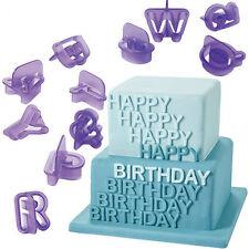 40PCS Number Mold Plastic Letter Fondant Cake Decorating Set Lcing Cutter Mold