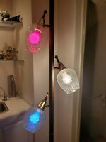 REWIRED Vintage Atomic Tension Pole Lamp 3 Way Light Mid Century Modern MCM