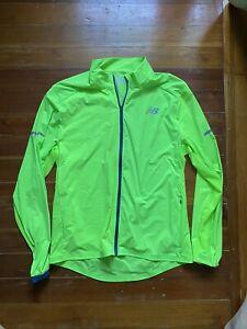 New Balance Neon Green Running Jacket Windbreaker Men's Medium