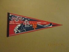 Mlb Cardinals Mets Opening Day 2007 10X Champs Pennant