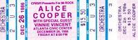 ALICE COOPER 1986 NIGHTMARE RETURNS TOUR UNUSED CONCERT TICKET VINNIE VINCENT