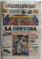GAZZETTA DELLO SPORT 24-8-2020 BAYERN MONACO VINCE CHAMPIONS LEAGUE CAMPIONI PSG