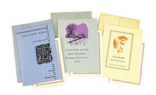 3p Borzoi Chapbooks 1st Ed  #1 Prehistoric Burials #2 Rainbow #4 A Country House