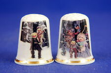 The Muppets Movie 'A Christmas Carol' Set of 2 China Thimbles B/173