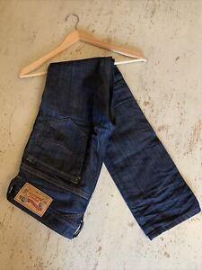 "DIESEL INDUSTRY Thavar Slim Skinny Fit Work Jeans, Dark Wash 29"" Waist 30"" Leg"