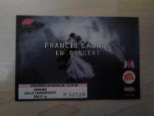 billet ticket concert Francis CABREL 1995