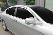 Chrome Weather Shields Window Visor Weathershields for Honda Accord 2013 ~ 2015