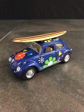 "Volkswagen Beetle Flowers Peace Surf Board 1:32 Kinsmart Diecast Car 5"" VW"
