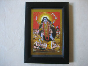 BEAUTIFUL FRAMED PICTURE OF GODDESS KALI