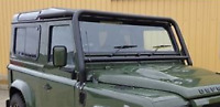 Land Rover Defender 90/110/130 - Front Windscreen Cab Roof Roll Cage Bar Black