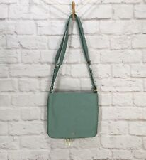 Fossil Preston Crossbody Purse Bag Green Pebble Leather Expandable Zipper