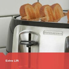4-Slice Toaster with Extra-Wide Slots, Black/Silver, BLACK+DECKER TR1478BD