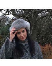 ICEHOTEL Crown Cap Aviator Genuine Rabbit Fur Hat Size 58 S/ M Small Medium