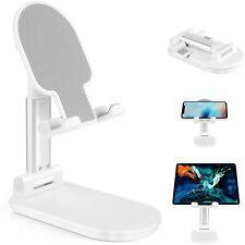 Support Téléphone Bureau réglable compatible iPhone Samsung liseuse iPad Blanc