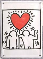 Cuore Amore Amicizia Amore - 11cm x 8cm Mini - Targa di Latta