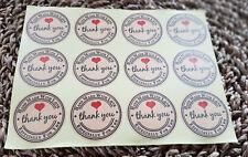 120 Aufkleber THANK YOU *HANDMADE WITH LOVE* Sticker Hochzeit Weihnachten *NEU*