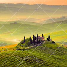 Italy Tuscany Panorama Landscape Toscana Italian Sunrise Sun Wall Decor Wall Ar