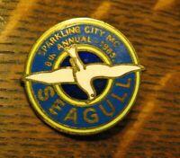Sparkling City Motorcycle Club Lapel Pin - Vintage 1985 Seagull Biker Jacket Pin
