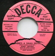50'S & 60'S Promo 45 Gary Crosby - There'S A Small Hotel / Ready Willing And Abl