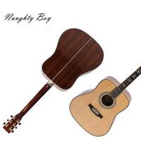 D45 Acoustic Guitar Solid Spruce Ebony Fingerboard Including Hardcase Fast Ship