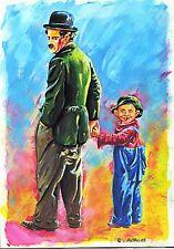 MAD Titelbild Ivica ASTALOS Originalzeichnung Charlie Chaplin für die MAD Serie