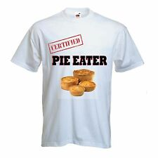 CERTIFIED PIE EATER T-SHIRT - Wigan Lancashire Rugby Athletic - Sizes S to XXXL