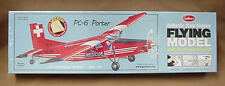 Balsa wood airplane model Guillows PC-6 PORTER 304 LC