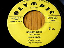 "DON RADER - ROCKIN' BLUES  7"" VINYL"