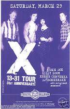 """X 2008 """"13-31 Tour"""" Portland Concert Poster -John Doe,Exene, Billy,D.J. Standing"""