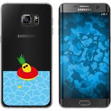 Case für Samsung Galaxy S7 Edge Silikon-Hülle Sommer Ananas M2 Cover