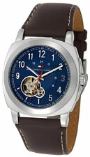 Tommy Hilfiger Men's 1710138 Automatic Brown Leather Watch NEW
