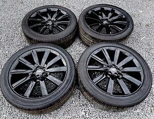 "GENUINE VELAR FPACE DISCO SPORT E PACE Gloss Black 21"" Wheels"