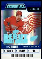2019-20 Credentials Base Debut Ticket Access #131 Filip Zadina RC /499