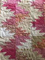 Long arm quilting service - Twin size bed quilt