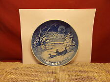 Bing & Gronhdahl China 1970 Christmas PLate  Pheasants In The Snow 7 1/8""