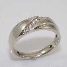 Diamond Wedding Band Ring Size 10.25 Ggi Solid 10K White Gold Men's 1/10 ct