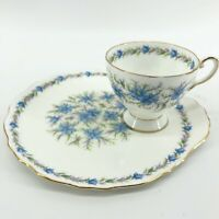 Royal Tuscan Fine Bone China Teacup & Snack Plate Cup Holder Love in The Mist