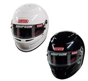 Simpson Venator Helmet Lid SA2015 White Oval/Track/Kart/Drag Racing - All Sizes