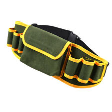 Adjustable Strap Hardware Mechanic's Canvas Tool Belt Bag Pouch Pocket Utility .
