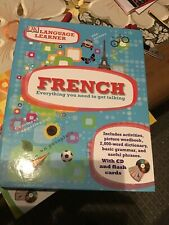 language learner French -CD, flash cards and 160 pages dictionery