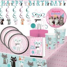 Cat Kitten Purrfect Party Tableware, Decorations & Balloons