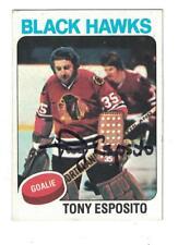 Tony Esposito 1975-76 TOPPS AUTOGRAPH HOCKEY CARD CHICAGO BLACKHAWKS