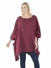 Plus Linen Casual Tops & Blouses for Women