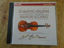 VIVALDI Le Quattro Stagioni - Accardo , 2 Concertos 1988 Philips CD Four Seasons
