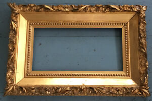 MUSEUM ANTIQUE ACANTHUS LEAF GOLD GILT Ptg FRENCH FRAME-STROBEL Co CINCINNATI
