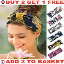 UK Stretchy Twist Knot Head Wrap Boho Headband Knotted Hairband Ladies Hair Band