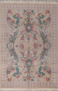 Geometric Nepalese Contemporary Oriental Area Rug Hand-knotted Wool Carpet 5x7