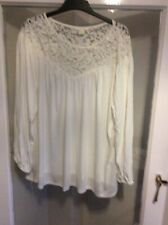 NEW WITH TAGS H&M LONG SLEEVE LACE PANEL BLOUSE SIZE L