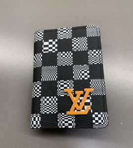 New Louis Vuitton Pocket Organizer 2021 Sold Out Virgil abloh damier distorted