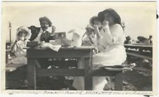 1910s Family Tea & Picnic at a Seaside Table Vintage Snapshot